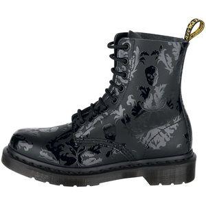 Dr. Marten Skull Cassidy Black Boots